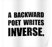 Poet Writes Inverse Poster