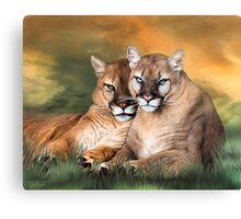 Cougar - Spirit Warrior Canvas Print