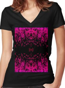 Abstract design _pink edition Women's Fitted V-Neck T-Shirt