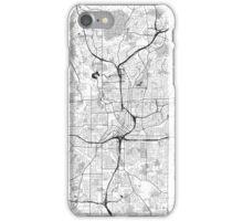 Atlanta City Map Gray iPhone Case/Skin