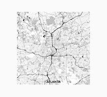 Atlanta City Map Gray Unisex T-Shirt