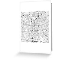 Atlanta City Map Gray Greeting Card