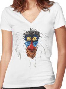 Rafiki-The Lion King Women's Fitted V-Neck T-Shirt