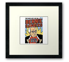 Bernie Comic Framed Print