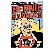 Bernie Comic Photographic Print