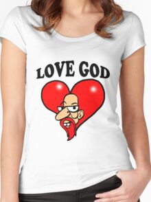 God of Love Women's Fitted Scoop T-Shirt