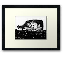 sailor dog Framed Print