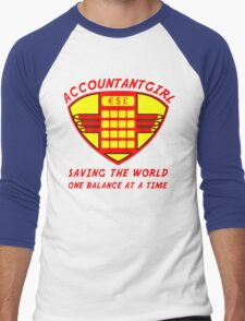 Accountantgirl Men's Baseball ¾ T-Shirt