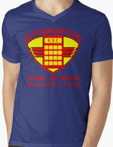 Accountantgirl Mens V-Neck T-Shirt