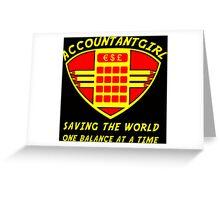 Accountantgirl Greeting Card