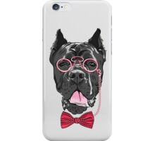 Hipster dog Cane Corso  iPhone Case/Skin
