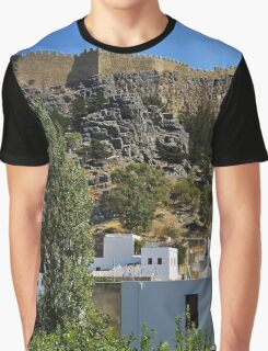 The Acropolis at Lindos Graphic T-Shirt