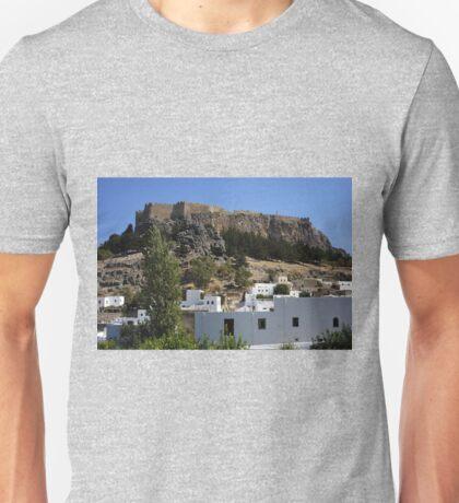 The Acropolis at Lindos Unisex T-Shirt
