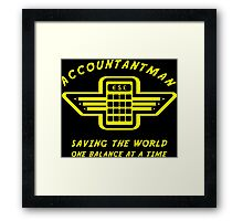 Accountantman Framed Print