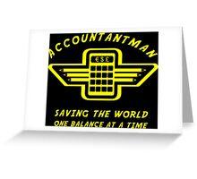 Accountantman Greeting Card