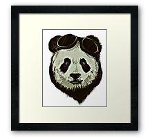 Hipster Panda Framed Print