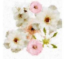 Lovely floral paint Photographic Print