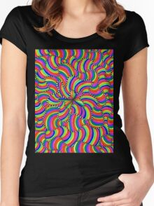 Trippy Waves Women's Fitted Scoop T-Shirt