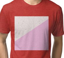Modern Black White Concrete and Pink Color Block Tri-blend T-Shirt
