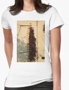 Dried Garlic and Chillies Womens Fitted T-Shirt