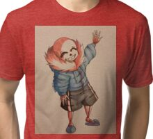 Cute Sans Waving Tri-blend T-Shirt