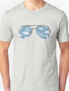 Glasses; Cloud Design Unisex T-Shirt