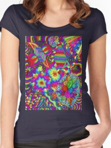 Cosmic Explosion  Women's Fitted Scoop T-Shirt