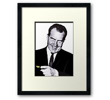 I Am Not a Crook Framed Print