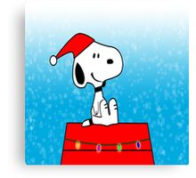 Snoopy before Christmas Canvas Print