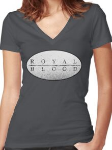 Royal Blood Women's Fitted V-Neck T-Shirt