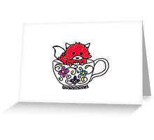 Fox in a teacup Greeting Card