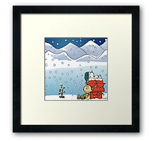 Snoopy and best friends Framed Print