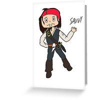 Chibi Captain Jack Sparrow Greeting Card