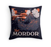 visit mordor  Throw Pillow