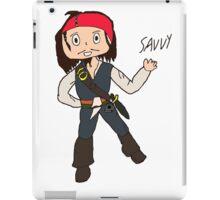 Chibi Captain Jack Sparrow iPad Case/Skin