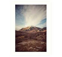 Mountains in the background XVII Art Print