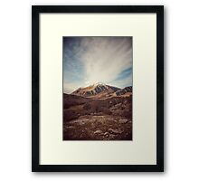 Mountains in the background XVII Framed Print