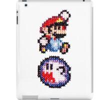 Cross stitch 8-bit Mario and ghost iPad Case/Skin