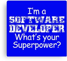 I'm A Software Developer Canvas Print