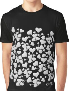 Hearty Vines - White on Black Graphic T-Shirt