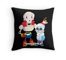 Papyrus and Sans_Undertale Throw Pillow
