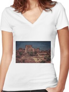 Tulum Women's Fitted V-Neck T-Shirt