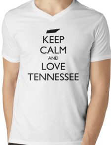 KEEP CALM and LOVE TENNESSEE Mens V-Neck T-Shirt