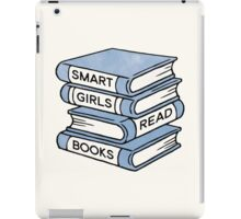 Smart Girls Read Books - book lover gift inspirational quote iPad Case/Skin