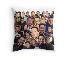Sal Vulcano collage (Throw Pillow) Throw Pillow