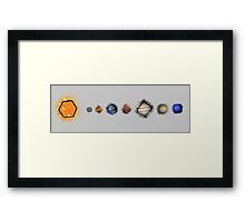 The Dice System Framed Print