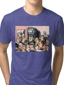 Coffee Mug People in Office Tri-blend T-Shirt