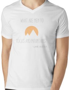 What Are Men Compared to Rocks and Mountains Mens V-Neck T-Shirt