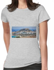 Lindos Acropolis Womens Fitted T-Shirt