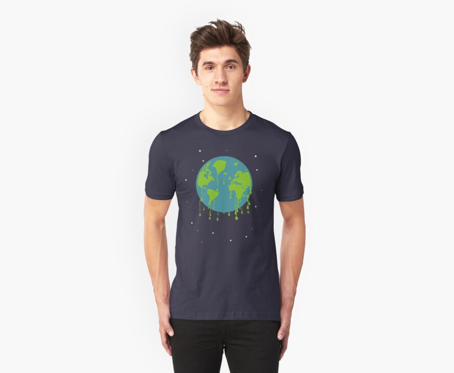 global warming tshirt by Anastasiia Kucherenko